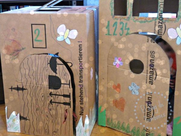 casitas de cartón