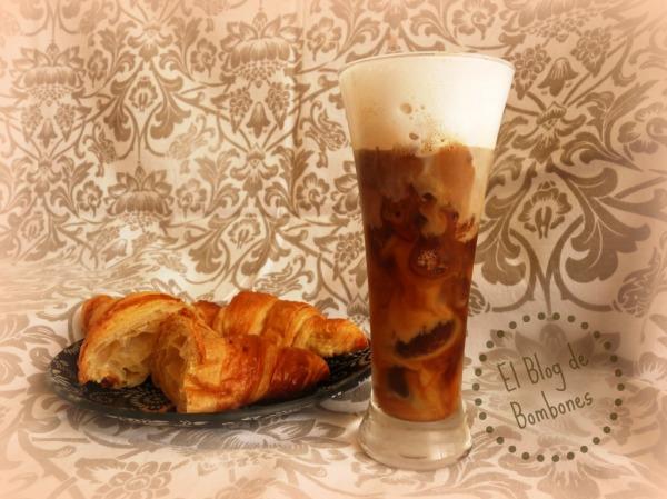 Granizado de café con crema de leche