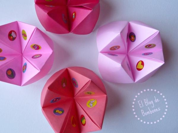 Comecocos de origami