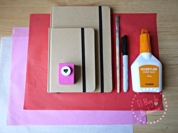 Materiales para personalizar las libretas