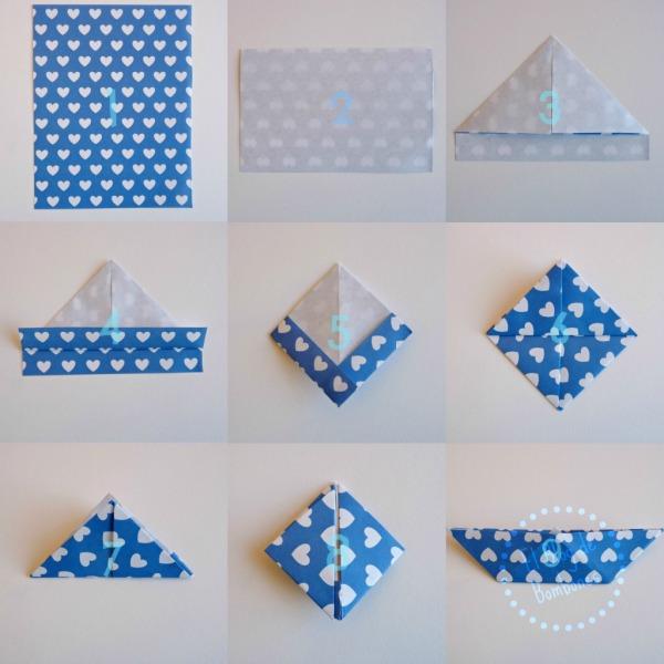 Paso a paso barquitos de papel