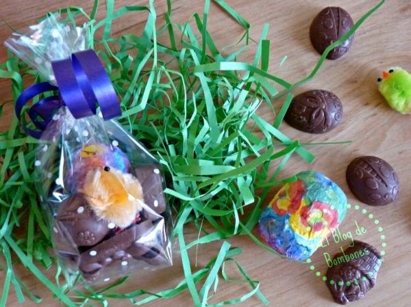 Bolsitas para pascua con chocolate