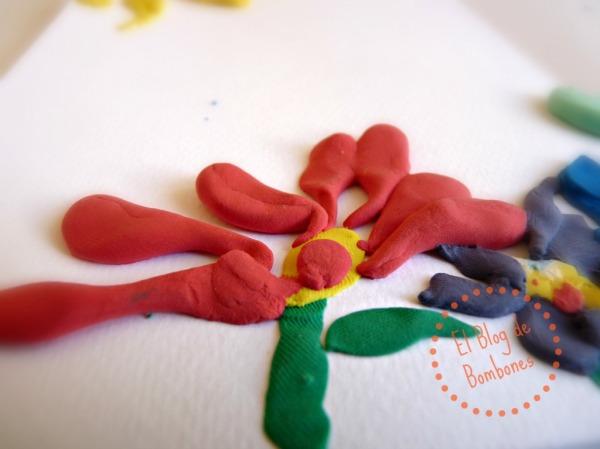 Pintar con plastilina