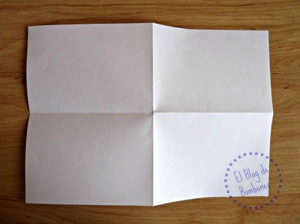 Postal desdoblada