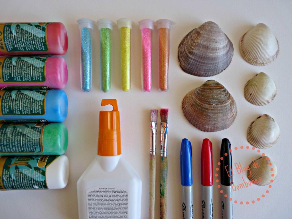 Pintar conchas marinas el blog de bombones - Como hacer conchas finas ...