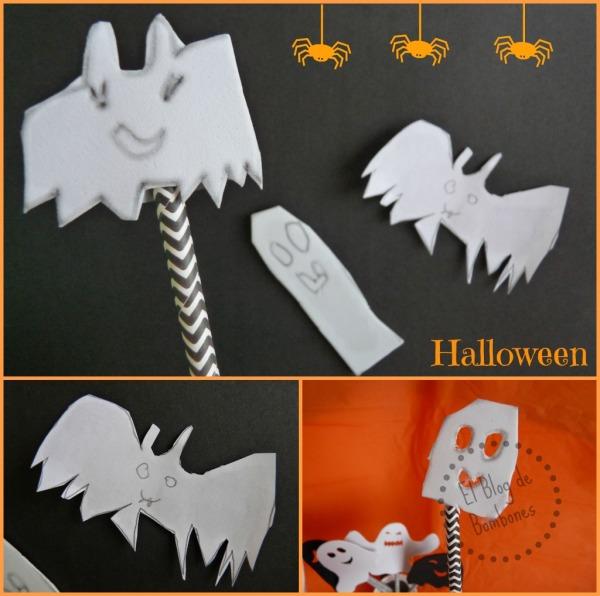 Marionetas de Halloween hechas por los peques