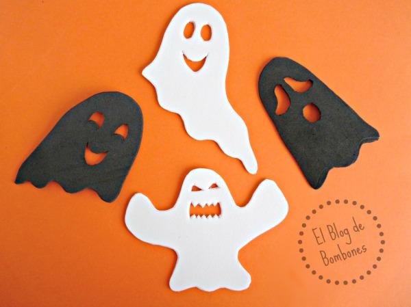 Siluetas de fantasmas para Halloween