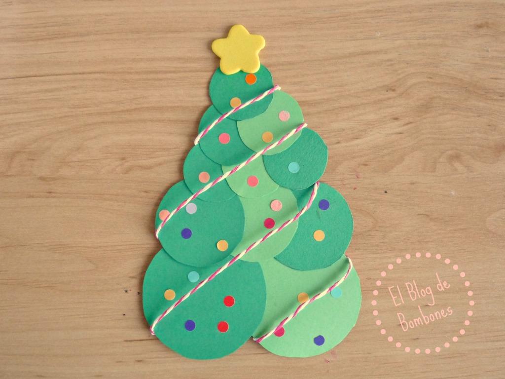 Christmas navideños con árboles de cartulina  El Blog de Bombones