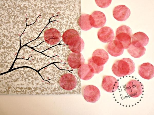 Como hacer flores de cerezo