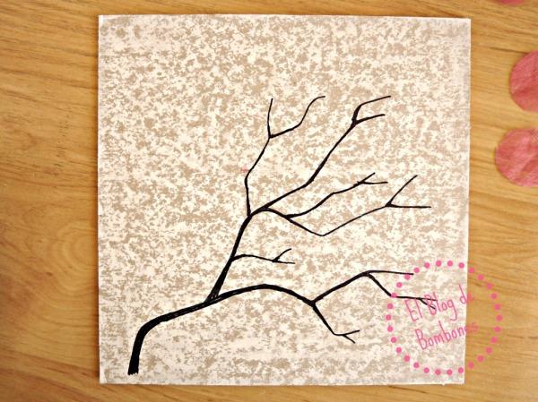 rama de cerezo sin flores
