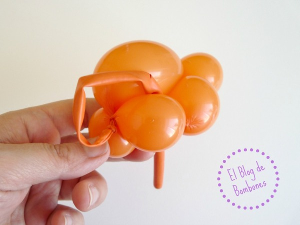 Mariquita de globos - Paso 9