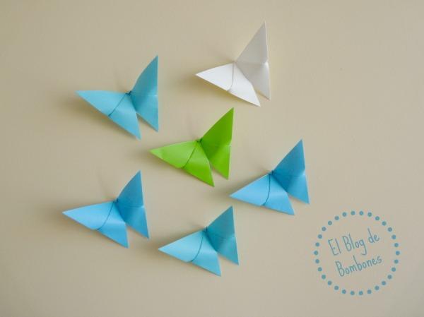 Decorar con mariposas de origami