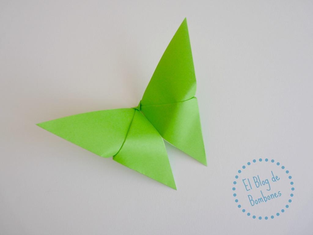 Mariposas de origami para la fiesta de la primavera.   El Blog de ...