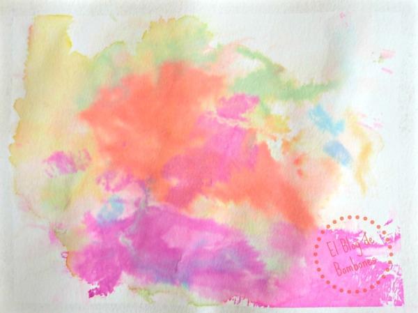 Dibujo con papel crepe para preescolar