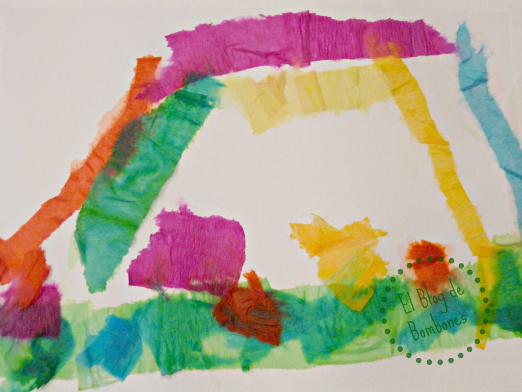 Pintar con papel crep el blog de bombones - Papel de pintar ...