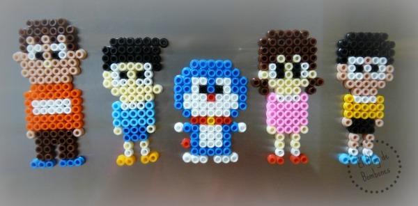 Personajes Doraemon ocn hama beads
