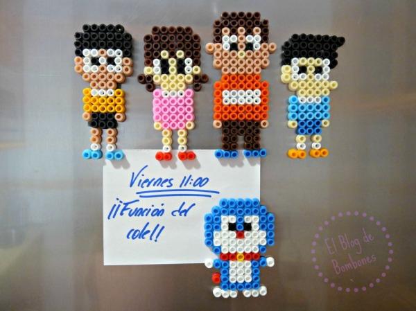 Amigos de Doraemon para la nevera