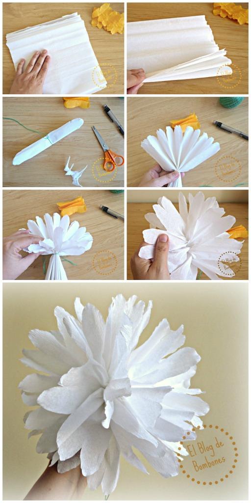 Paso a paso para hacer flores de papel