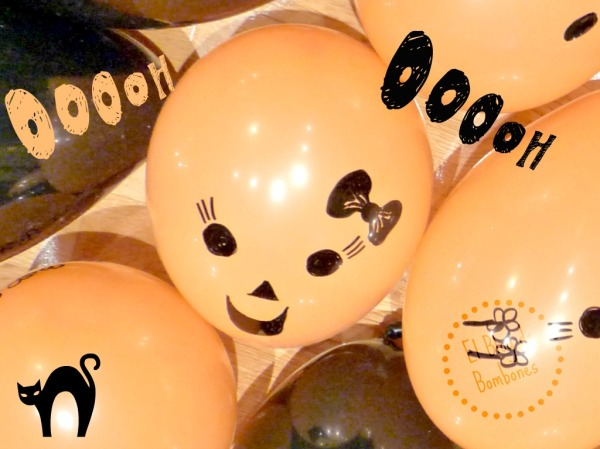 Decorar Halloween con globos