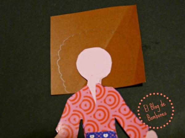 Diseños de peinado en papel