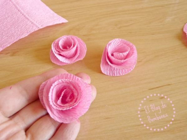 Flores de papel Paso 3
