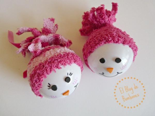Bola de Navidad - Pareja de muñecos de nieve