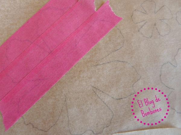 Flor con washi tape paso a paso