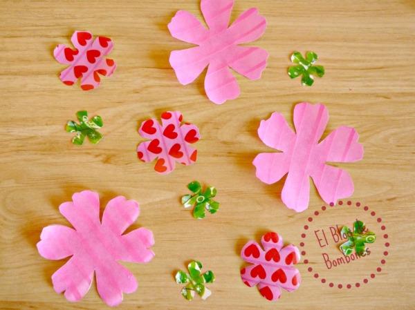 Flores de washi tape