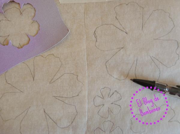 Flores con washi tape - Plantilla