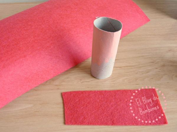 Manualidad con tubos de papel higienico
